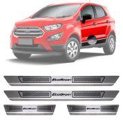Soleira de Aço Inox Escovado Ford Ecosport 4 Portas 2013 14 15 16 17 18 19