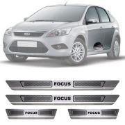 Soleira de Aço Inox Escovado Ford Focus 4 Portas 2009 10 11 12 13