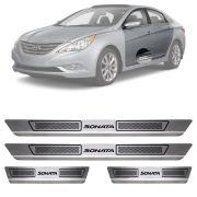 Soleira de Aço Inox Escovado Hyundai Sonata 4 Portas 2011 12 13 14 15