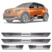 Soleira de Aço Inox Escovado Nissan Kicks 4 Portas 2016 17 18 19 20 21