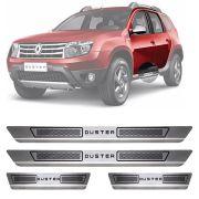 Soleira de Aço Inox Escovado Renault Duster 4 Portas 2012 13 14 15 16 17 18 19