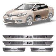 Soleira de Aço Inox Escovado Renault Fluence 4 Portas 2015 16 17