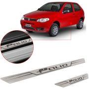 Soleira de Aço Inox Escovado Reta Fiat Palio 2012 13 14 15 2 Portas