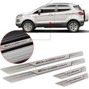 Soleira de Aço Inox Escovado Reta Ford Ecosport 2012 Até 2018