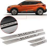 Soleira de Aço Inox Escovado Reta Nissan Kicks 2017 18
