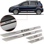 Soleira de Aço Inox Escovado Reta Volkswagen Fox 2003 Até 2017