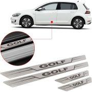 Soleira de Aço Inox Escovado Reta Volkswagen Golf 1999 Até 2017