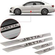 Soleira de Aço Inox Escovado Reta Volkswagen Jetta 2013 Até 2017