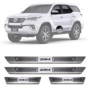 Soleira de Aço Inox Escovado Toyota Sw4 4 Portas 2012 13 14 15 16 17 18 19