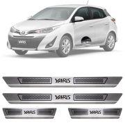 Soleira de Aço Inox Escovado Toyota Yaris 4 Portas 2018 19