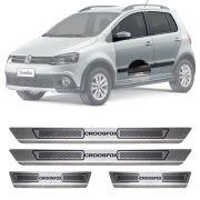 Soleira de Aço Inox Escovado Volkswagen Crossfox 4 Portas 2009 10 11 12 13 14 15 16 17 18