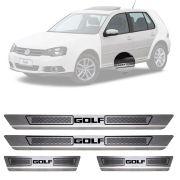 Soleira de Aço Inox Escovado Volkswagen Golf 4 Portas 2013 14 15 16