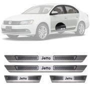 Soleira de Aço Inox Escovado Volkswagen Jetta 4 Portas 2012 13 14 15 16 17 18 19