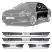Soleira de Aço Inox Escovado Volkswagen Passat 4 Portas 2010 11 12 13 14 15 16 17 18 19