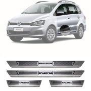 Soleira de Aço Inox Escovado Volkswagen SpaceFox Space Fox 4 Portas 2012 13 14 15 16 17 18 19