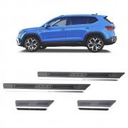 Soleira de Aço Inox Escovado Volkswagen Taos 2021 Em Diante