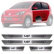 Soleira de Aço Inox Escovado Volkswagen Up 4 Portas 2014 15 16 17 18 19