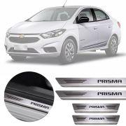 Soleira de Aço Inox Premium Escovado Chevrolet Prisma 2013 14 15 16 17 18 19