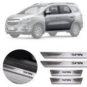 Soleira de Aço Inox Premium Escovado Chevrolet Spin 2013 14 15 16 17 18 19