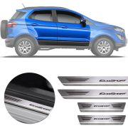 Soleira de Aço Inox Premium Escovado Ford Ecosport 2013 14 15 16 17 18 19