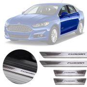 Soleira de Aço Inox Premium Escovado Ford Fusion 2014 15 16 17 18 19