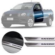 Soleira de Aço Inox Premium Escovado Saveiro Cross G5 G6 2011 12 13 14 15 16 17 18 19
