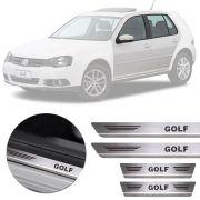 Soleira de Aço Inox Premium Escovado Volkswagen Golf 2013 14 15
