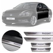 Soleira de Aço Inox Premium Escovado Volkswagen Passat 2017 18 19