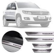 Soleira de Aço Inox Premium Escovado Volkswagen Tiguan 2016 17 18