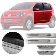 Soleira de Aço Inox Premium Escovado Volkswagen Up 4 Portas 2014 15 16 17 18 19