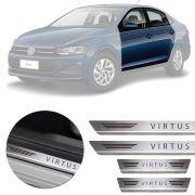 Soleira de Aço Inox Premium Escovado Volkswagen Virtus 2018 19