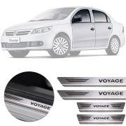 Soleira de Aço Inox Premium Escovado Volkswagen Voyage G5 G6 2009 10 11 12 13 14 15 16 17 18