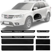 Soleira Premium Resinada Porta Fiat Freemont 2012 13 14 15 16 17 8 Peças
