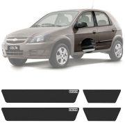 Soleira Resinada Mini Premium Chevrolet Celta 2000 a 2015 6 Peças