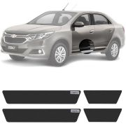 Soleira Resinada Mini Premium Chevrolet Cobalt 2011 12 13 14 15 16 17 18 19 6 Peças