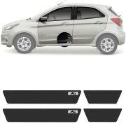 Soleira Resinada Mini Premium Ford Ka Hatch / Sedan 2015 16 17 18 19 6 Peças