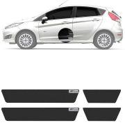 Soleira Resinada Mini Premium Ford New Fiesta 2014 15 16 17 18 19 6 Peças