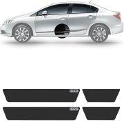 Soleira Resinada Mini Premium Honda Civic 2012 13 14 15 16 6 Peças