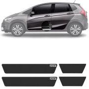 Soleira Resinada Mini Premium Honda Fit 2012 13 14 15 16 17 18 19  6 Peças