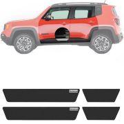 Soleira Resinada Mini Premium Jeep Renegade 2015 16 17 18 19 6 Peças