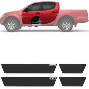Soleira Resinada Mini Premium Mitsubishi Triton 2007 08 09 10 11 12 13 14 15 16 17 18 19 6 Peças