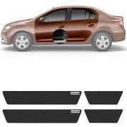 Soleira Resinada Mini Premium Renault Logan 2007 08 09 10 11 12 13 14 15 16 17 18 19 6 Peças