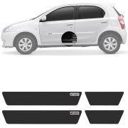 Soleira Resinada Mini Premium Toyota Etios 2012 13 14 15 16 17 18 19 6 Peças