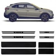 Soleira Resinada Premium Volkswagen Nivus 2020 Em Diante 8 Peças