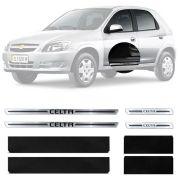 Soleira Resinada Premium Chevrolet Celta 2000 Até 2016 8 Peças