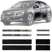 Soleira Resinada Premium Chevrolet Cruze 2012 13 14 15 16 17 18 Hatch / Sedan 8 Peças