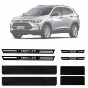 Soleira Resinada Premium Chevrolet Tracker 2020 21 Em Diante 8 Peças