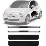 Soleira Resinada Premium Fiat 500 2010 11 12 13 14 15 4 Peças