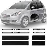 Soleira Resinada Premium Fiat Idea 2005 Até 2015 8 Peças