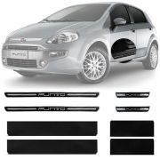Soleira Resinada Premium Fiat Punto 2013 14 15 16 17 8 Peças